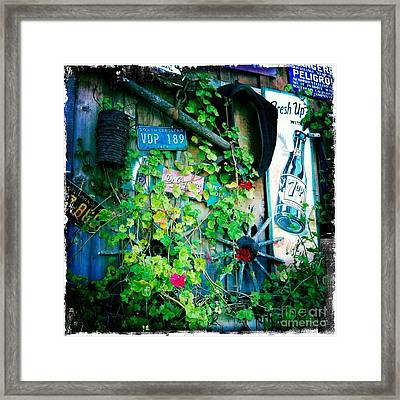 Framed Print featuring the photograph Sign Wall by Nina Prommer