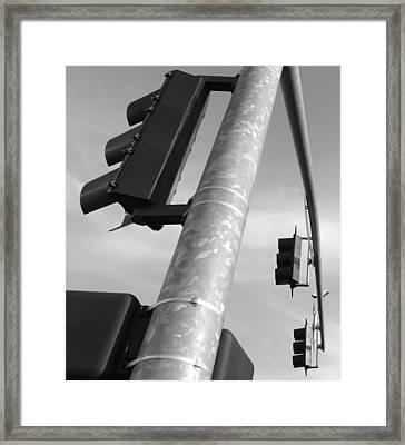 Signal Bw Framed Print