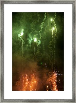 Signal Flares Framed Print by Paul Mangold