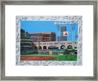 Signed Minute Maid Framed Print by Leo Artist