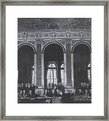 Signing Treaty Of Versailles, 1919 Framed Print by Omikron