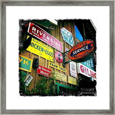 Framed Print featuring the photograph Signs Of A Great Place by Nina Prommer
