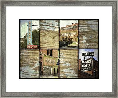 Signs Of Salida Framed Print by Ann Powell