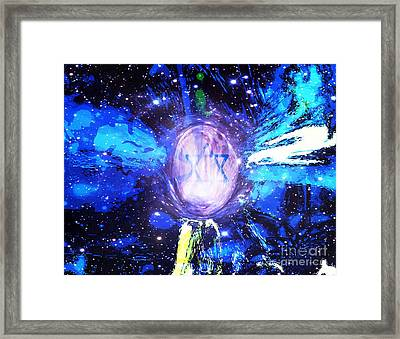 Signs Of Time - Son Of Man Framed Print by Fania Simon