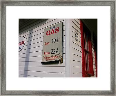 Signs On A Historic Gas Station Offer Framed Print by Amy White & Al Petteway