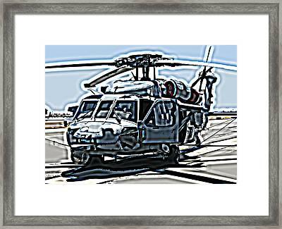 Sikorsky Uh-60 Blackhawk Helicopter Framed Print by Samuel Sheats