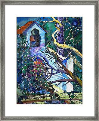 Silence At St. Michel Chapel In Capri Italy Framed Print by Mindy Newman