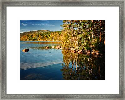 Silence Is Golden - Eagle Lake At Sunrise Framed Print