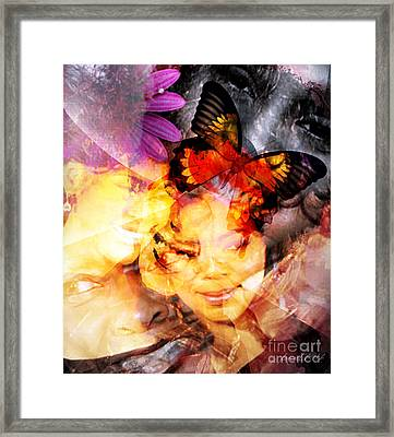 Silent Butterfly Framed Print by Fania Simon