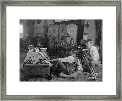 Silent Film Set, 1920s Framed Print by Granger