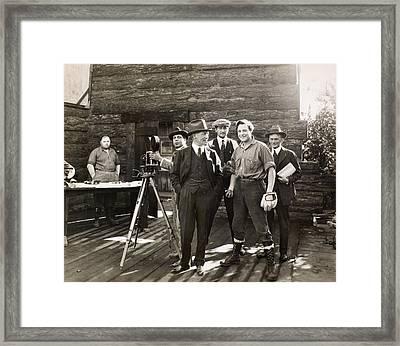 Silent Film Set, C1925 Framed Print by Granger