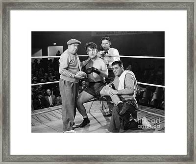Silent Film Still: Boxing Framed Print by Granger