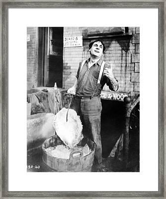 Silent Film Still: Iceman Framed Print by Granger