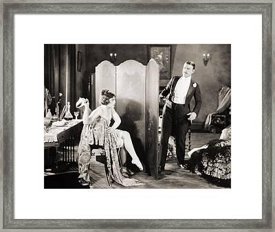 Silent Film Still: Legs Framed Print by Granger
