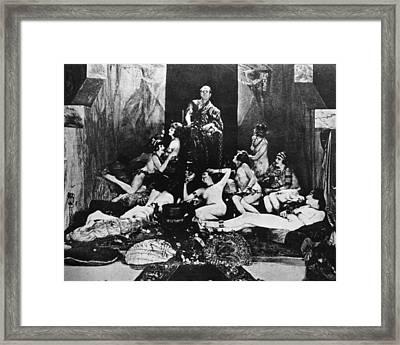 Silent Film Still: Orgy Framed Print by Granger