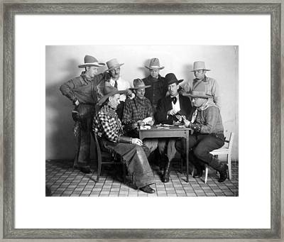 Silent Film Still: Poker Framed Print by Granger