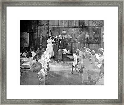 Silent Film Still: School Framed Print by Granger
