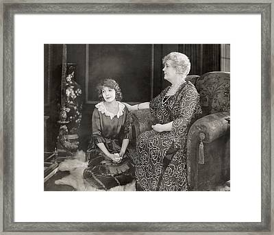 Silent Film Still: Women Framed Print by Granger
