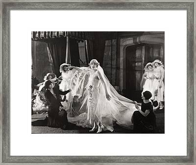 Silent Film Still:wedding Framed Print