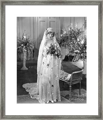 Silent Film: Wedding Framed Print