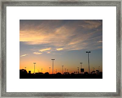 Silent Lights Framed Print