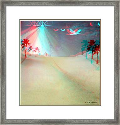 Silent Night - Red And Cyan 3d Glasses Required Framed Print by Brian Wallace