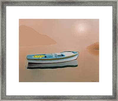 Silent Sea Framed Print by Larry Cirigliano