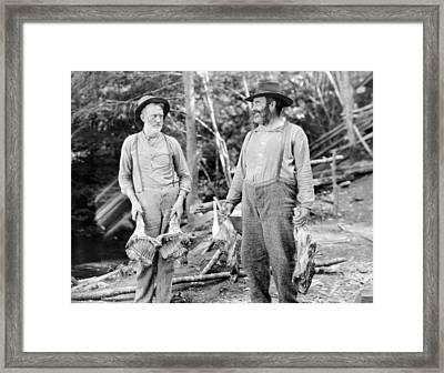 Silent Still: Old People Framed Print by Granger