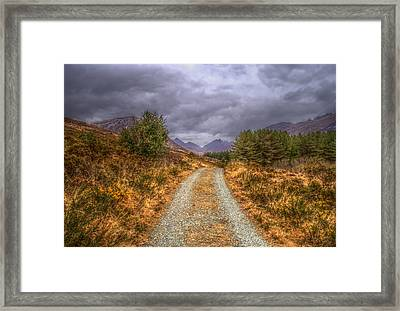Silent Valley Road Framed Print by Matthew Green