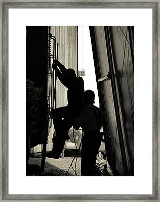 Framed Print featuring the photograph Silhouette by Bob Wall