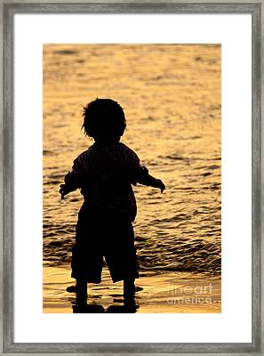 Silhouette Of A Child 1 Framed Print by Carole Lloyd