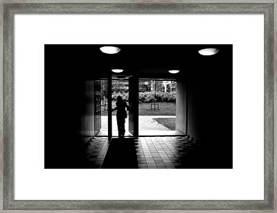 Silhouette Of A Man Framed Print by Fabrizio Troiani