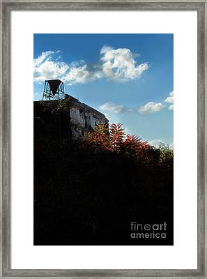 Silhouette Of An Old Mill At Sunset Framed Print by HD Connelly