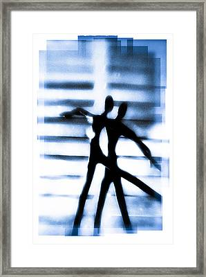 Silhouette Of Dancers Framed Print by David Ridley