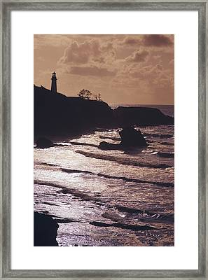 Silhouette Of Lighthouse Framed Print by Craig Tuttle
