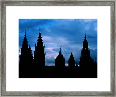 Silhouette Of Spanish Church Framed Print by Jasna Buncic