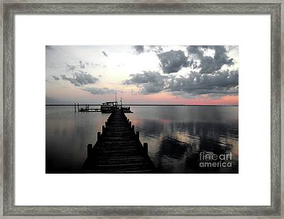 Silhouette On The Sound Framed Print