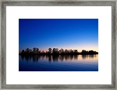 Framed Print featuring the photograph Silhouette Tree Line by Scott Holmes