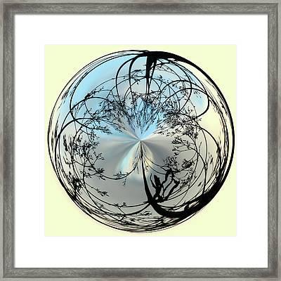 Silhoutte Orb Framed Print