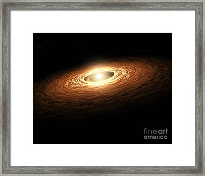 Silicate Crystal Formation In The Disk Framed Print by Stocktrek Images