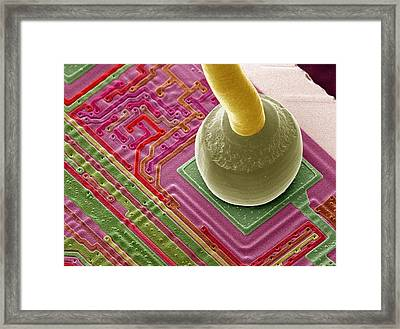 Silicon Chip Micro-wire, Sem Framed Print