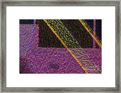Silicon Solar Cell Framed Print by Michael Abbey and Photo Researchers
