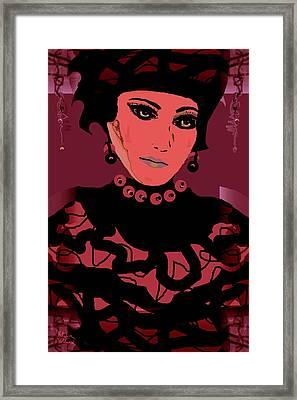 Silk Chiffon Framed Print by Natalie Holland