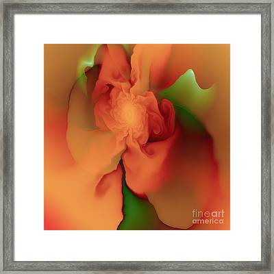 Silk Rose Framed Print by Michelle H