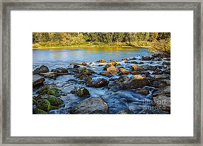 Silk Water Framed Print by Robert Bales