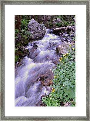 Silky Stream Framed Print by Zawhaus Photography