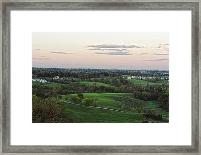 Silo View Framed Print by Dave Levinson