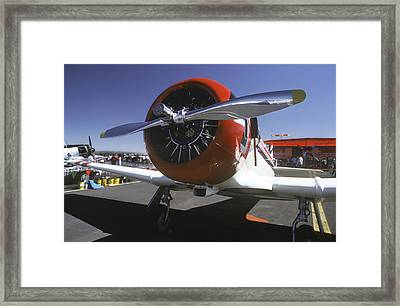 Silver And Red Framed Print