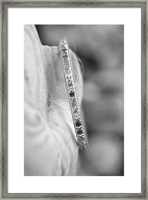 Silver Bangle Framed Print
