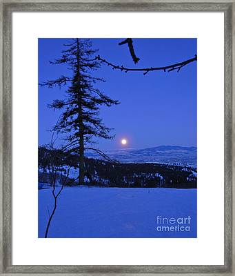 Silver-blue Moon Framed Print